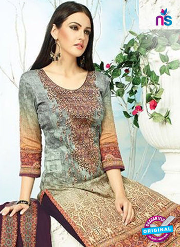 AZ 3344 Green and Beige Printed Cotton Satin Pakistani suit