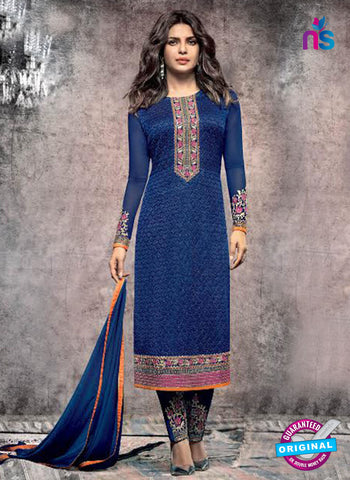 Heroine 5141 Blue Georgette Party Wear Suit