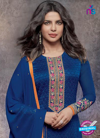Heroine 5141 Blue Georgette Party Wear Suit Online