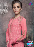Heroine 5142 Peach Georgette Party Wear Suit Online