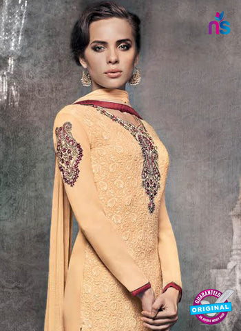 Heroine 5143 Peach Georgette Party Wear Suit Online