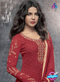 Heroine 5144 Maroon Georgette Party Wear Suit Online