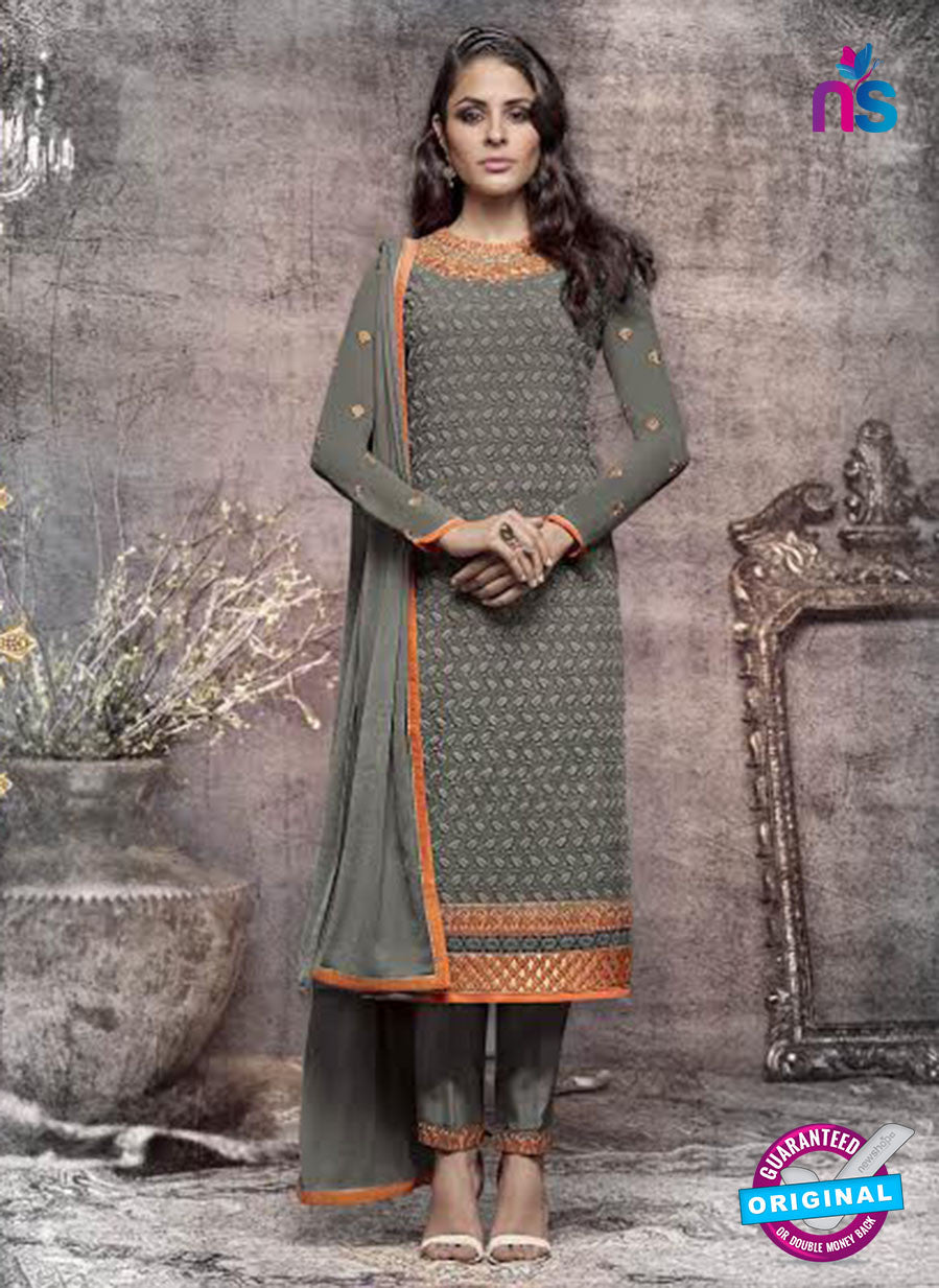 Heroine 5145 Grey Georgette Party Wear Suit