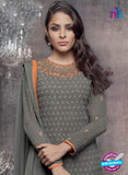 Heroine 5145 Grey Georgette Party Wear Suit Online