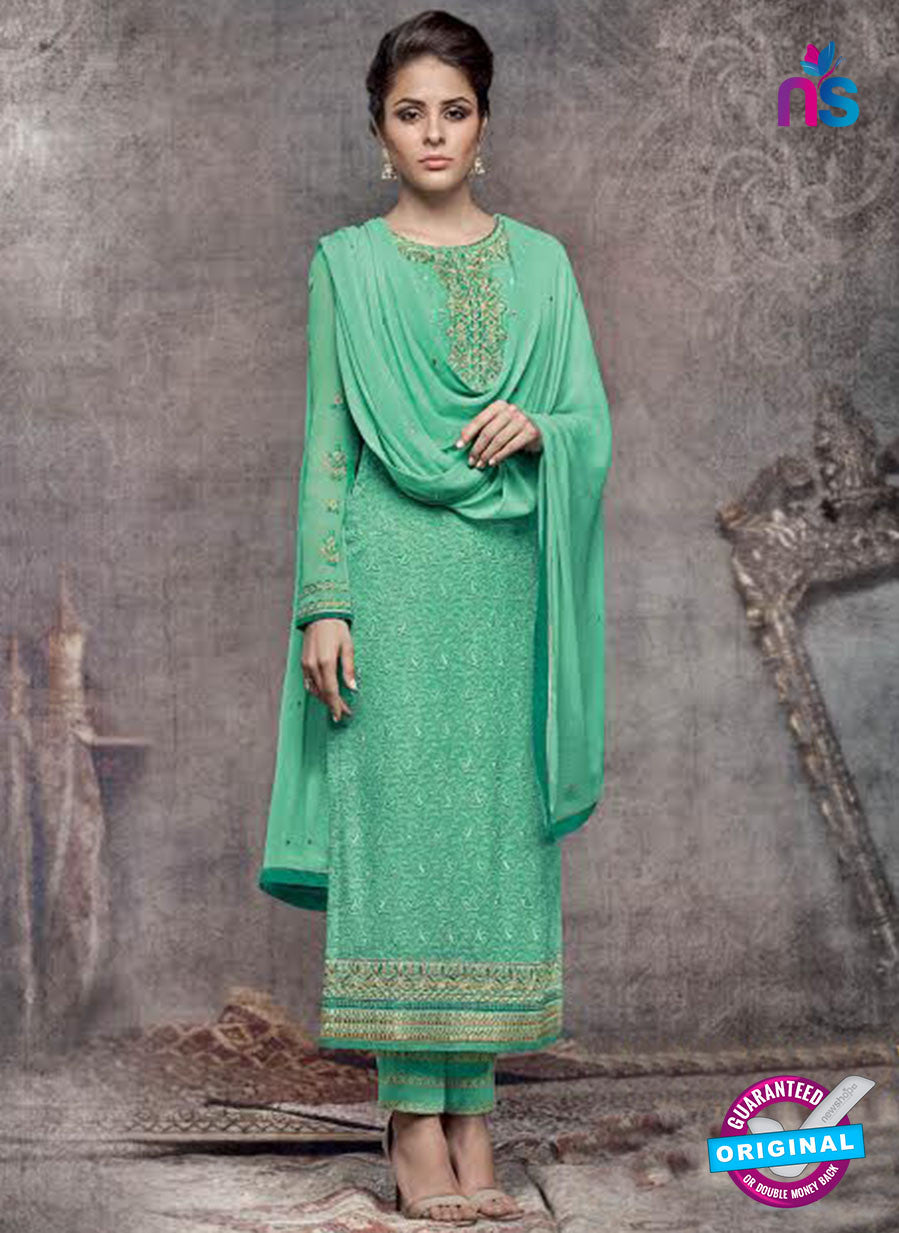 Heroine 5146 Sea Green Georgette Party Wear Suit