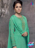 Heroine 5146 Sea Green Georgette Party Wear Suit Online