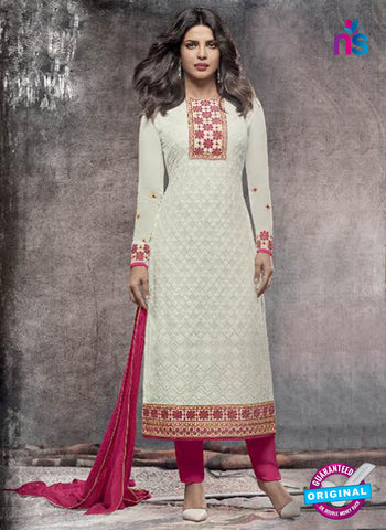 Heroine 5147 White Georgette Party Wear Suit