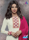 Heroine 5147 White Georgette Party Wear Suit Online