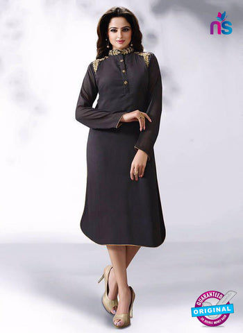 LT 514 Dark Grey Exclusive Party Wear Georgette Kurti