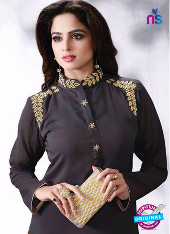 LT 514 Dark Grey Exclusive Party Wear Georgette Kurti Online