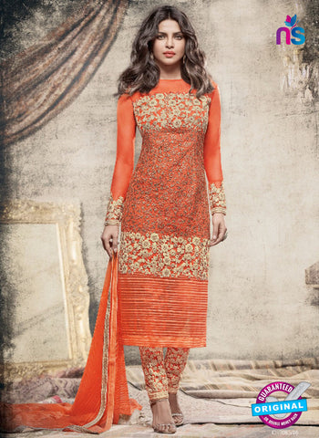 Heroine 5156 Orange Indo Western Suit