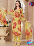 Rakhi 5181A Yellow and Red Crape Party Wear Suit
