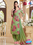 Rakhi 5181B Green and Pink Crape Party Wear Suit