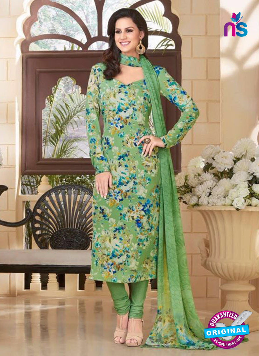Rakhi 5182B Green Crape Party Wear Suit