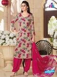 Rakhi 5184A Beige and Pink Crape Party Wear Suit