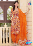 Rakhi 5185A Orange Crape Party Wear Suit