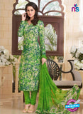 Rakhi 5185B Green and Pink Crape Party Wear Suit
