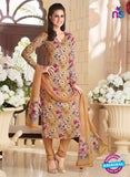 Rakhi 5186A Brown Crape Party Wear Suit