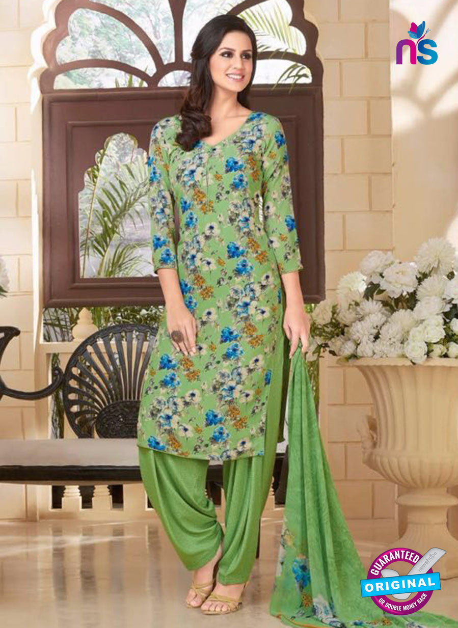 Rakhi 5186B Green Crape Party Wear Suit