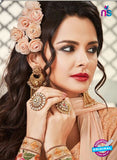 AZ 2262 Peach Embroidery Faux Georgette Party Wear Suit - Salwar Suits - NEW SHOP