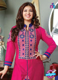 NS10127 Pink and Blue Cotton Straight Suit Online