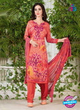 Rakhi 5225 A Peach Printed Crepe Casual Suit