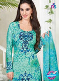Rakhi 5225 B Sea Green Printed Crepe Casual Suit