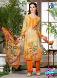 Rakhi 5227 A Yellow Printed Crepe Casual Suit