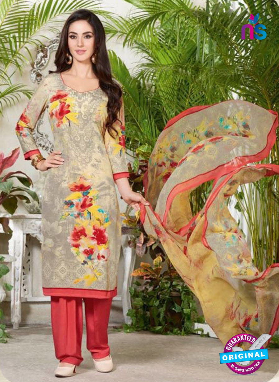 Rakhi 5230 A Grey Printed Crepe Casual Suit