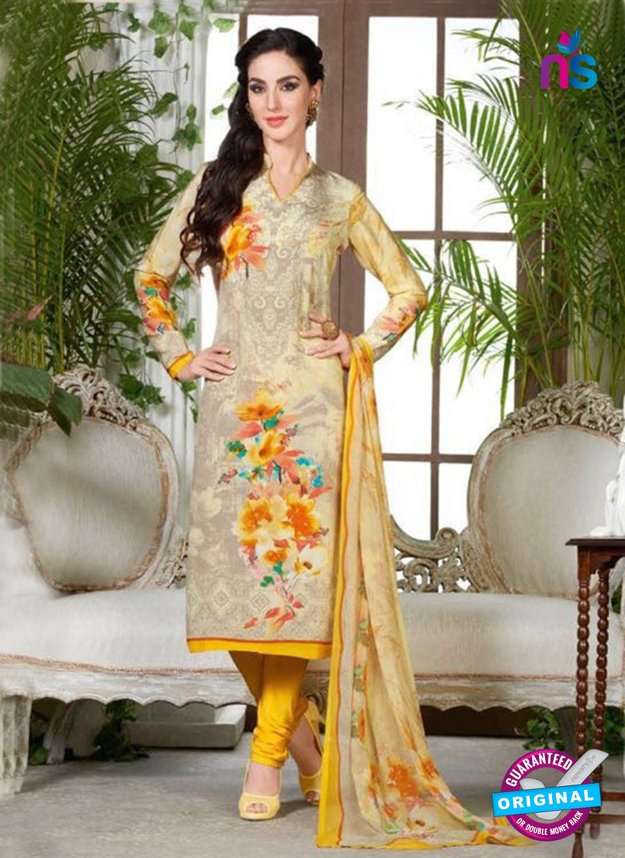 Rakhi 5230 B Grey Printed Crepe Casual Suit