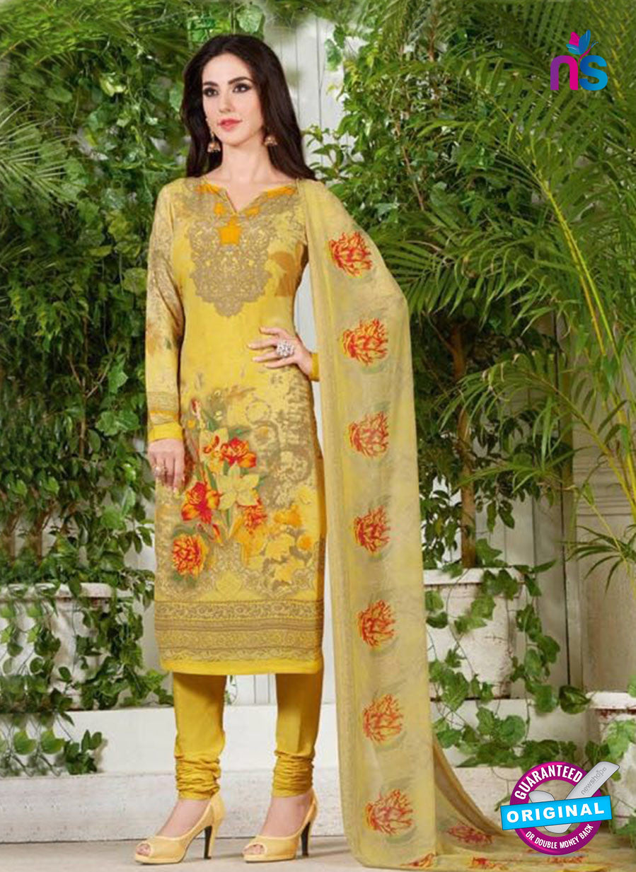 Rakhi 5231 A Yellow Printed Crepe Casual Suit
