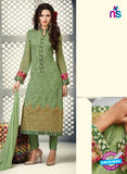 AZ 2263 Green Embroidery Faux Georgette Party Wear Suit