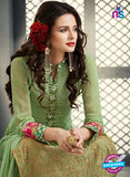 AZ 2263 Green Embroidery Faux Georgette Party Wear Suit - Salwar Suits - NEW SHOP