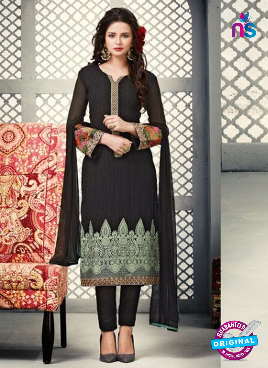 AZ 2264 Black Embroidery Faux Georgette Party Wear Suit