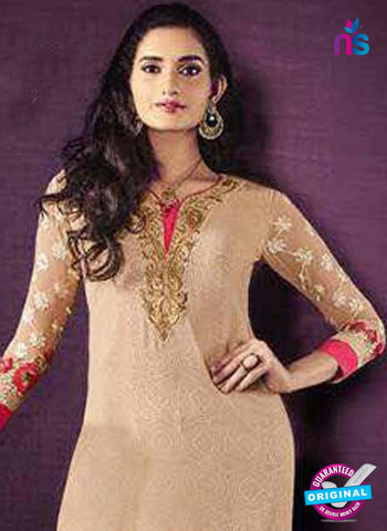 SC 42619 Beige Party Wear Suit