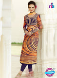 NS10720 Purple and Orange Cotton Satin Pure Viscos Georgette Designer Suit