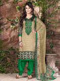 Rakhi 5442b Green & Beige Color Galace Cotton Designer Suit