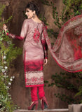 Rakhi 5444a Grey & Red Color Galace Cotton Designer Suit