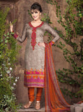 Rakhi 5447a Beige & Orange Color Galace Cotton Designer Suit