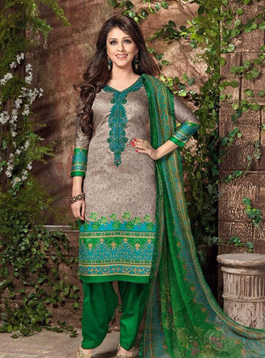 Rakhi 5447b Green & Beige Color Galace Cotton Designer Suit