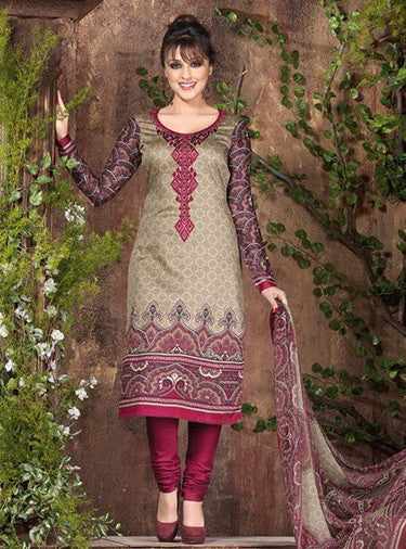 Rakhi 5448a Red & Beige Color Galace Cotton Designer Suit