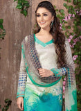 Rakhi 5450 B Blue & Grey Color Glace Cotton Designer Suit
