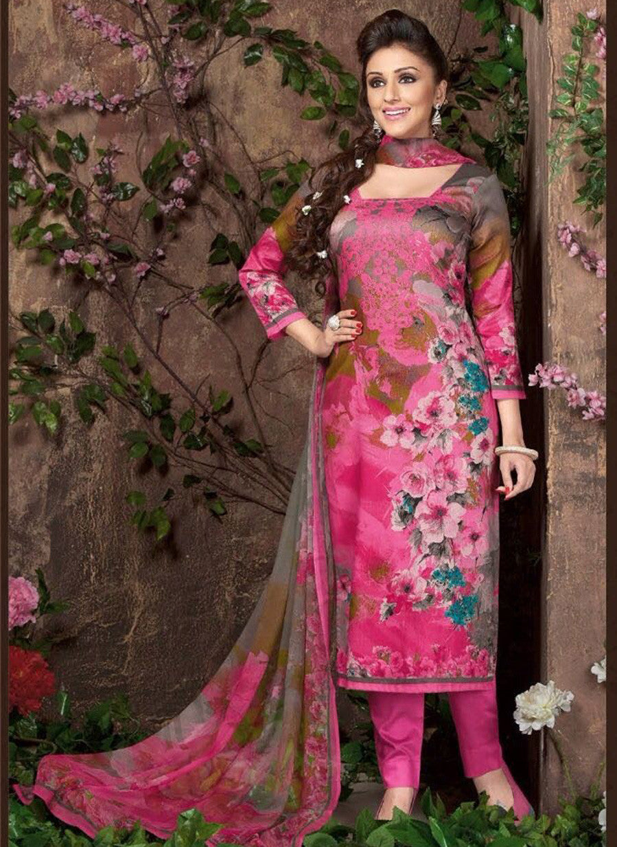Rakhi 5452 A Pink Color Glace Cotton Designer Suit