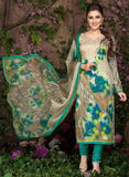 Rakhi 5455 B Sea Green & Grey Color Glace Cotton Designer Suit
