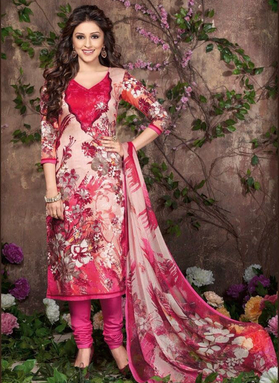 Rakhi 5456 A Pink Color Glace Cotton Designer Suit