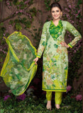 Rakhi 5456 B Green Color Glace Cotton Designer Suit