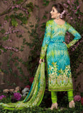 Rakhi 5457 B Green Color Glace Cotton Designer Suit