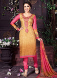 Rakhi 5462A Pink & Grey Color Glace Cotton Designer Suit