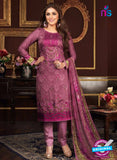 Rakhi 5472 A  Purple Glace Cotton Patiala Suit