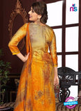Rakhi 5473 B Beige and Yellow Printed Glace Cotton Patiala Suit